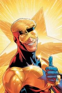 Booster Gold les desea lo mejor a los lectores de este blog. Y también desea volver a ser útil en el nuevo universo DC.