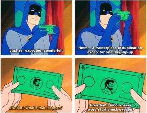 Ya que hablamos de Batman y dinero, recordemos esta joya